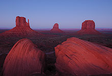 Monument Valley Mesas At Sunset